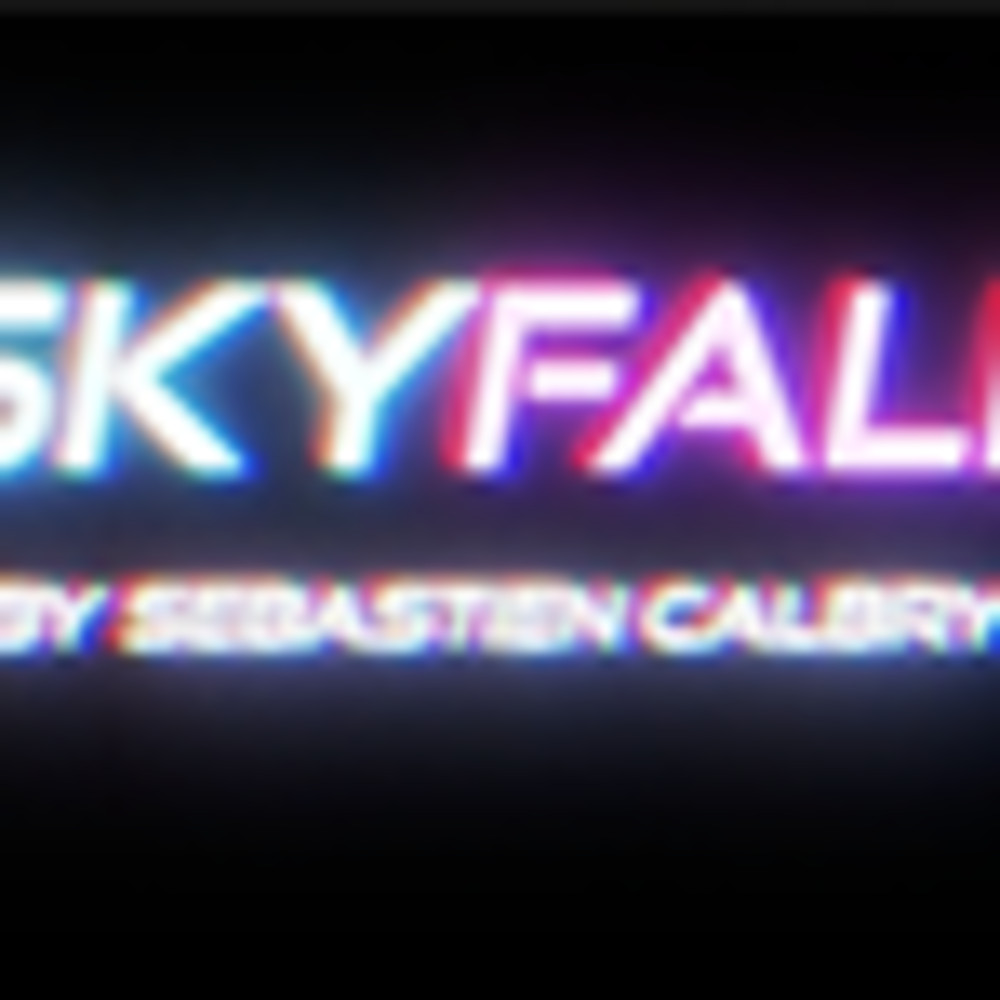 ***SKY FALL BLUE & RED by Sebastien Calbry***SKY FALL BLUE & RED by Sebastien Calbry