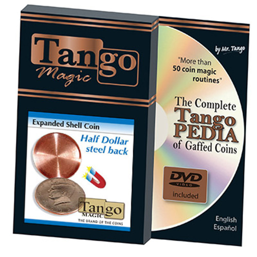 제이엘매직 탕고익스펜디드하프달러스틸백쉘(Expanded Shell Coin (Half Dollar) (D0007)(Steel Back) by Tango Magic - Trick