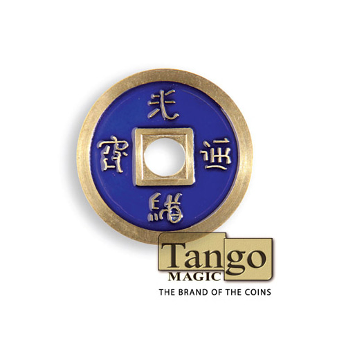 제이엘매직 노말차이나코인-블루(쇠 Normal Chinese Coin made in Brass (Blue) by Tango -Trick )