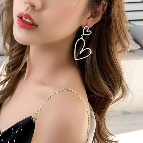 더블하트귀걸이(Double heart earrings)