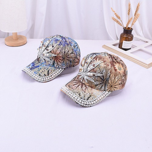 나뭇잎큐빅캡모자(Tree Leaves Cubic Cap Hat)