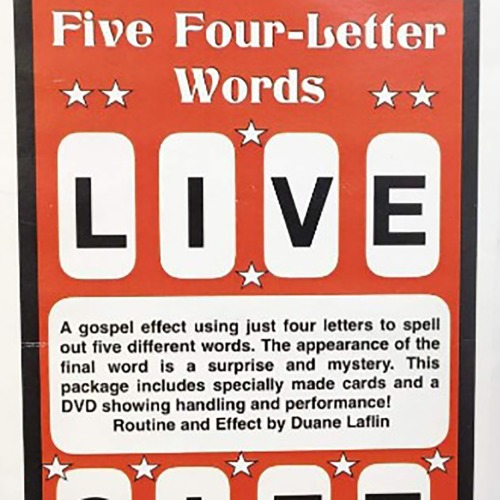 글자복음편지(FIVE FOUR LETTER WORDS by Duane Laflin)글자복음편지(FIVE FOUR LETTER WORDS by Duane Laflin)