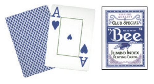 Cards Bee Poker Jumbo Index (Blue)***Cards Bee Poker Jumbo Index (Blue)***